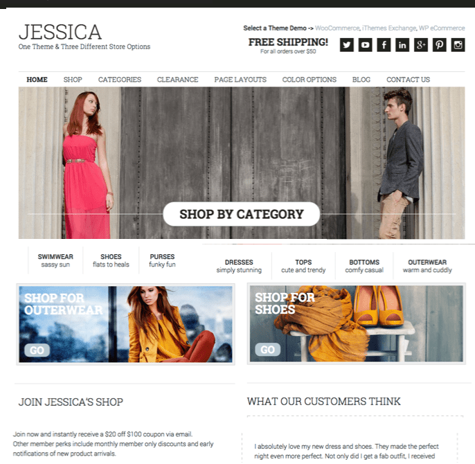 Jessica v1.8.1 E-Commerce Theme by StudioPress [ 2020]