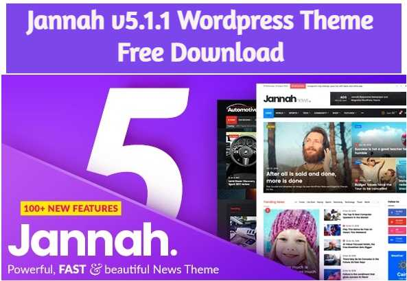Jannah 5.1.1 Theme Free Download