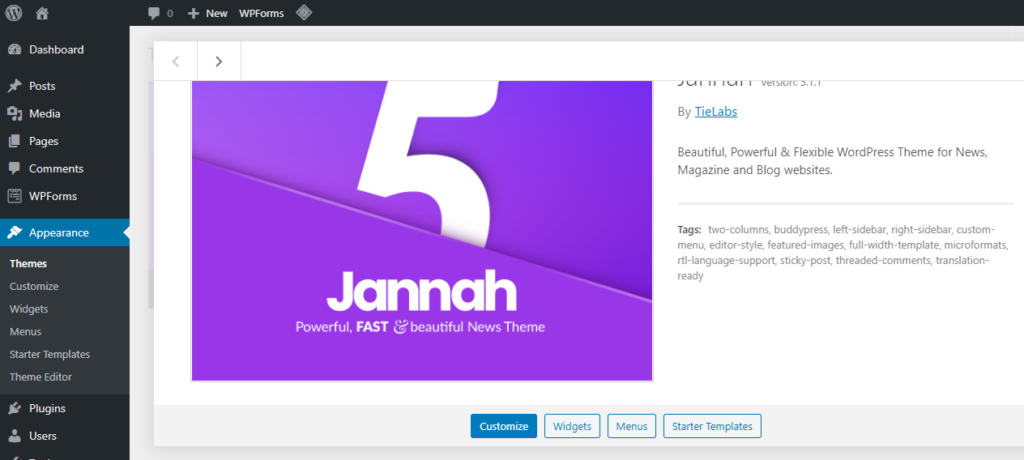 Jannah 5.1.1 WordPress Theme Free Download