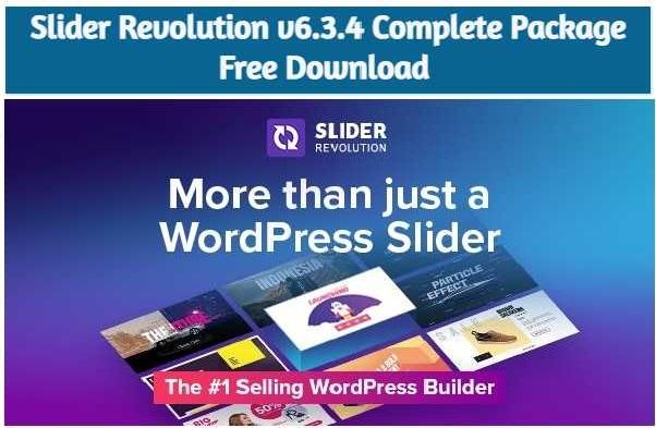 Slider Revolution v6.3.4 Free Download - [Complete Package]