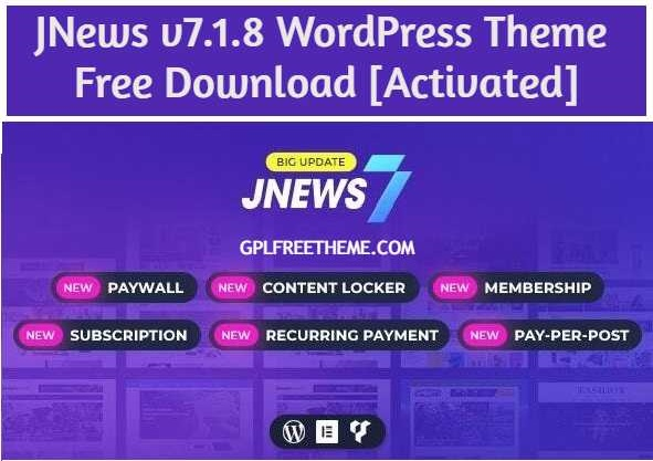 JNews v7.1.8 Theme Free Download [Activated]
