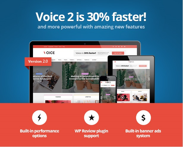 Voice v2.9.7 - News Magazine WordPress Theme Free Download