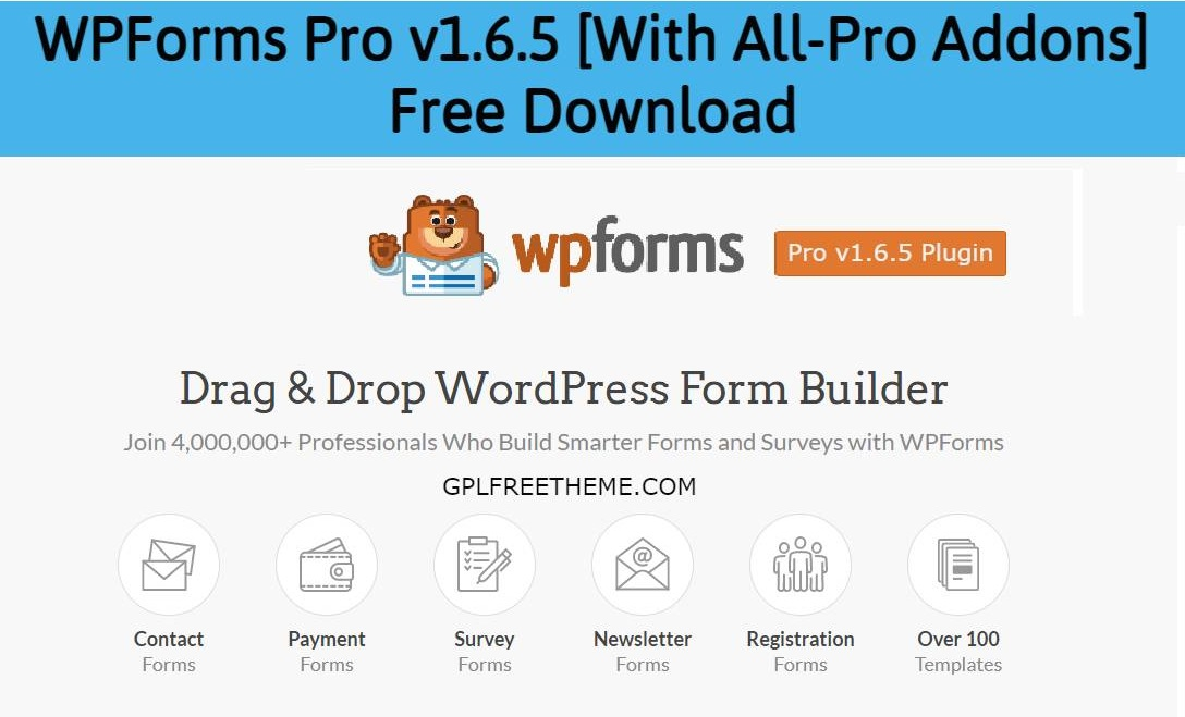 WPForms Pro v1.6.5 [With All-Pro Addons] Free Download