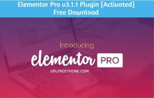 Elementor Pro v3.1.1 Plugin Free Download [Activated]