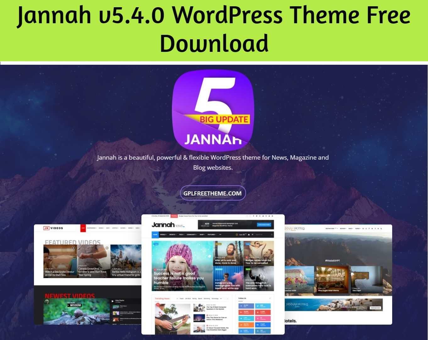 Jannah 5.4.0 WordPress Theme Free Download