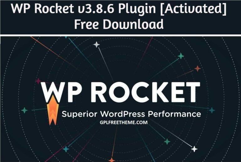 WP Rocket v3.8.6 - Plugin Latest Version Free Download [Activated]