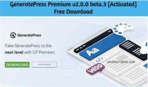 GeneratePress Premium v2.0.0 beta.3 Plugin Free Download