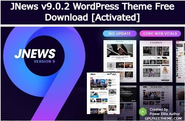 JNews v9.0.2 Theme Free Download [Activated]