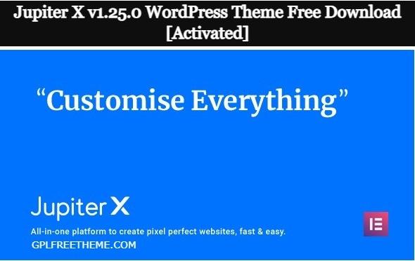 Jupiter X v1.25.0 WordPress Theme Free Download [Activated]
