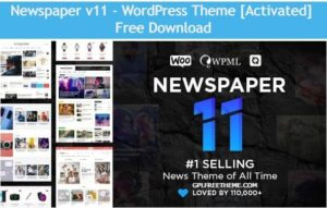 Newspaper 11 - WordPress Theme Free Download [Activated]