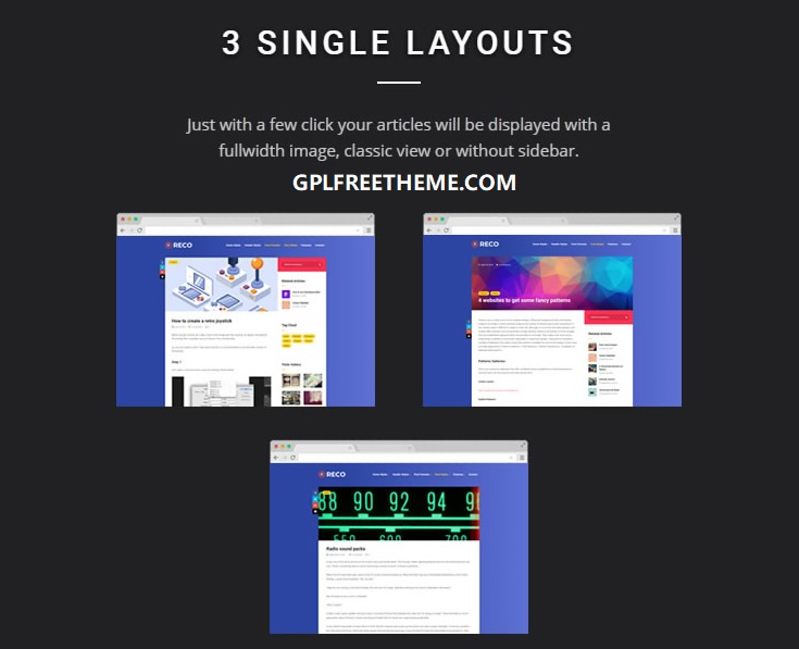 Reco v4.6.2 - Minimal Theme for Freebies Free Download [Activated]