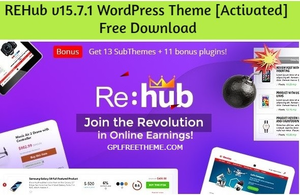 REHub v15.7.1 WordPress Theme Free Download [Activated]