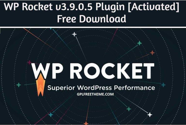WP Rocket v3.9.0.5 - Plugin Free Download [Activated]
