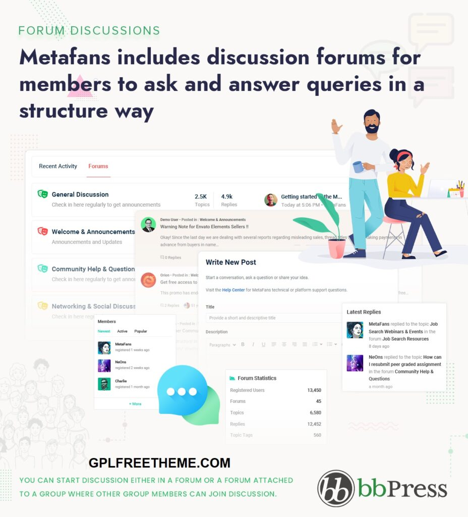 MetaFans v2.5 - Community & Social Network Theme Free Download